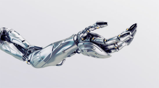A robotic arm is a type of mechanical arm, usually programmable, with similar functions to a human arm