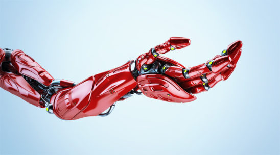 Red futuristic arm