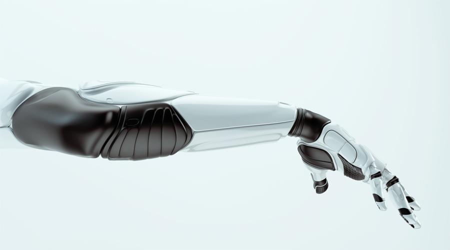 Elegant robotic arm with rubber parts