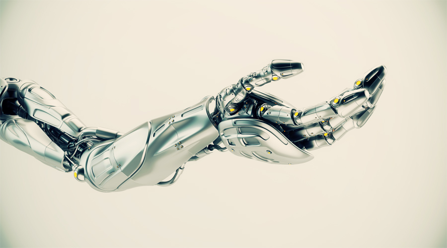A robotic arm, type of bionic arm with similar functions to a human arm