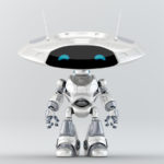 White-grey robot ufo