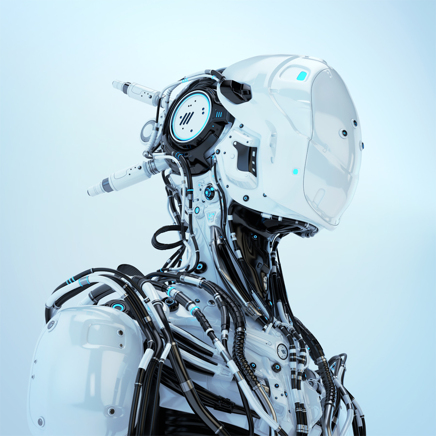 Hi-tech robotic wired pilot