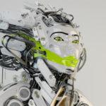Modern robot geisha