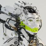 Futuristic queen geisha
