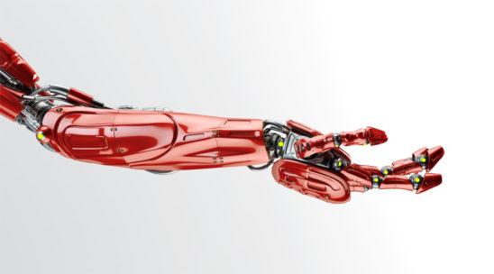 Red futuristic arm