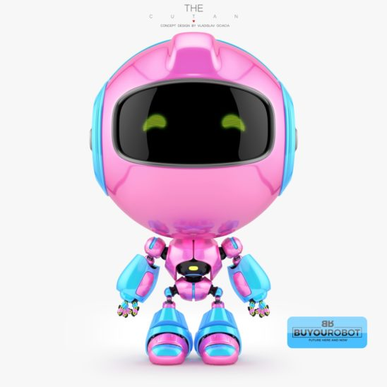 Girlish pink cutan toy 3d model