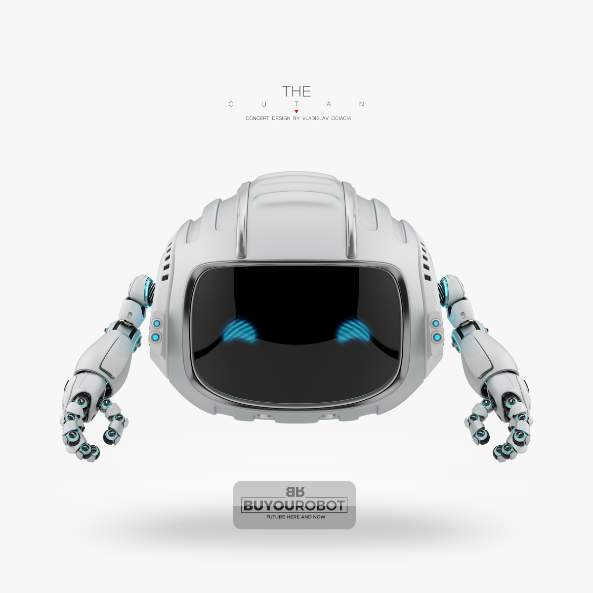 robotic cutan character 3d model