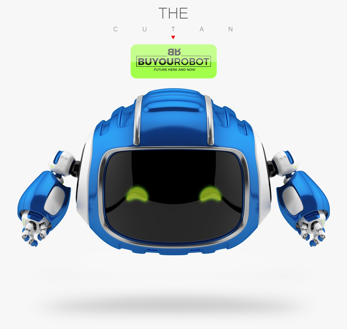 cute aerial robotic toy cutan in blue 3d model vray