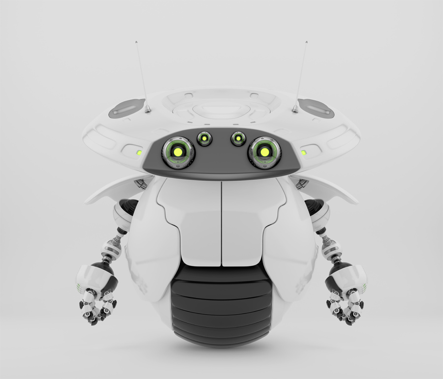 Roller bot on one big wheel IV