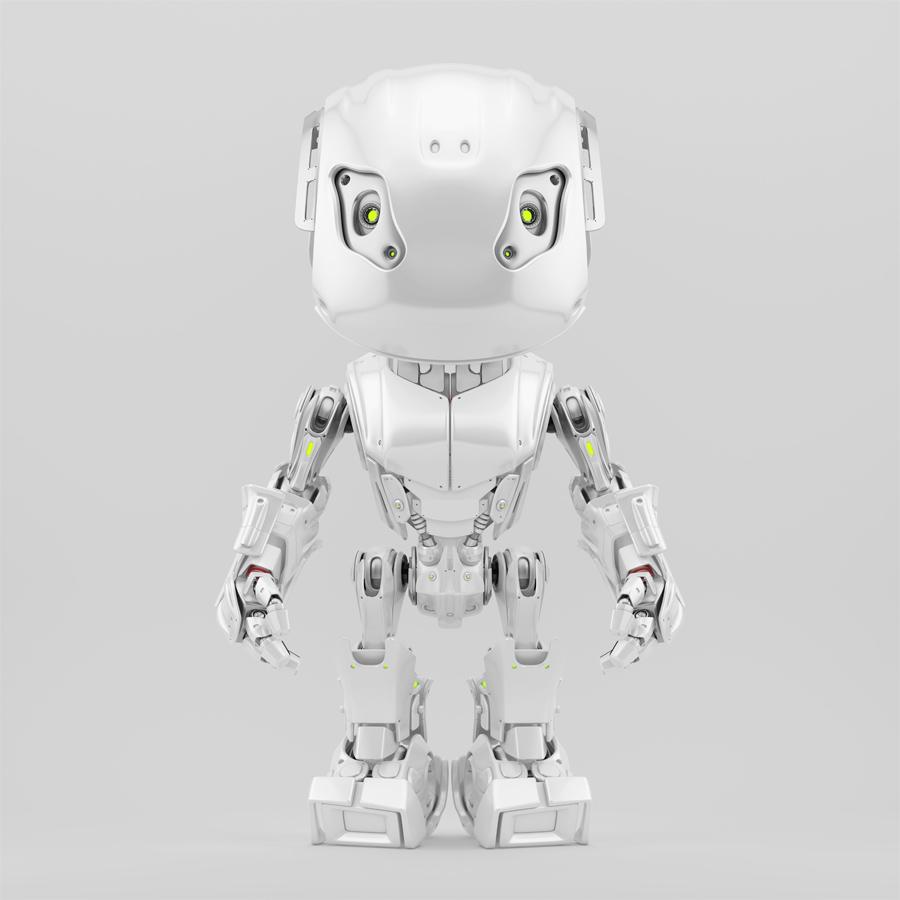 Futuristic pearl robot bbot