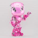 Pink bbot robot gesturing