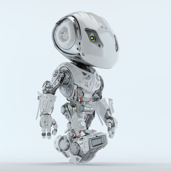 Walking bbot cute robot 3d render