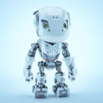 Lovely bbot robot toy in front render