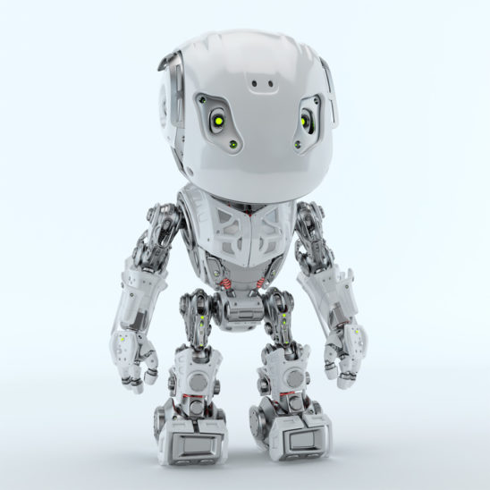 Lovely bbot robot toy in front render