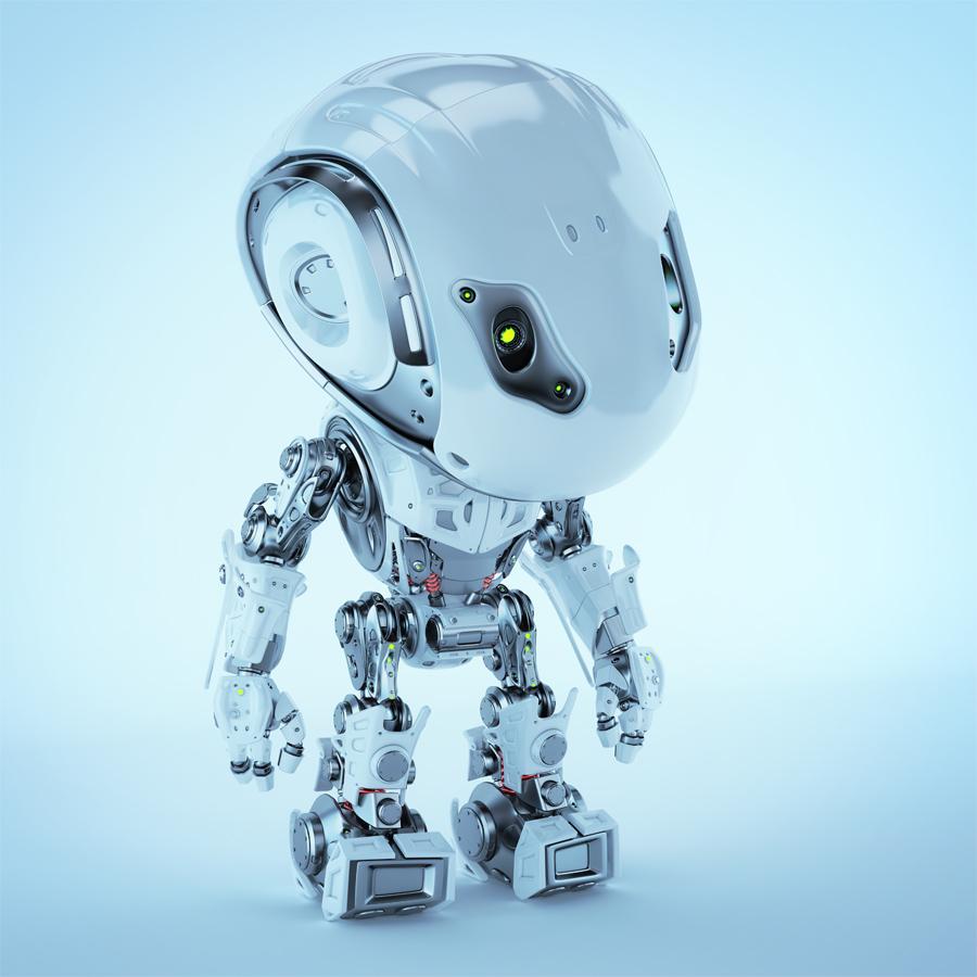 Bbot robot looking down