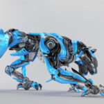 Blue-grey robot panther