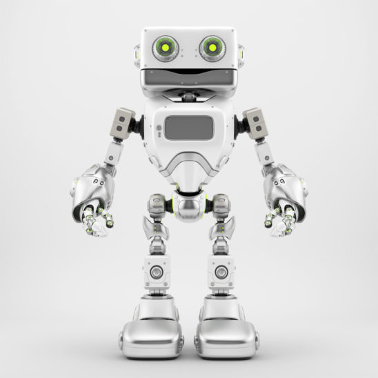 Silver retro robotic toy