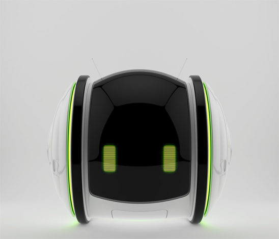 Smart roll bot in front 3d render