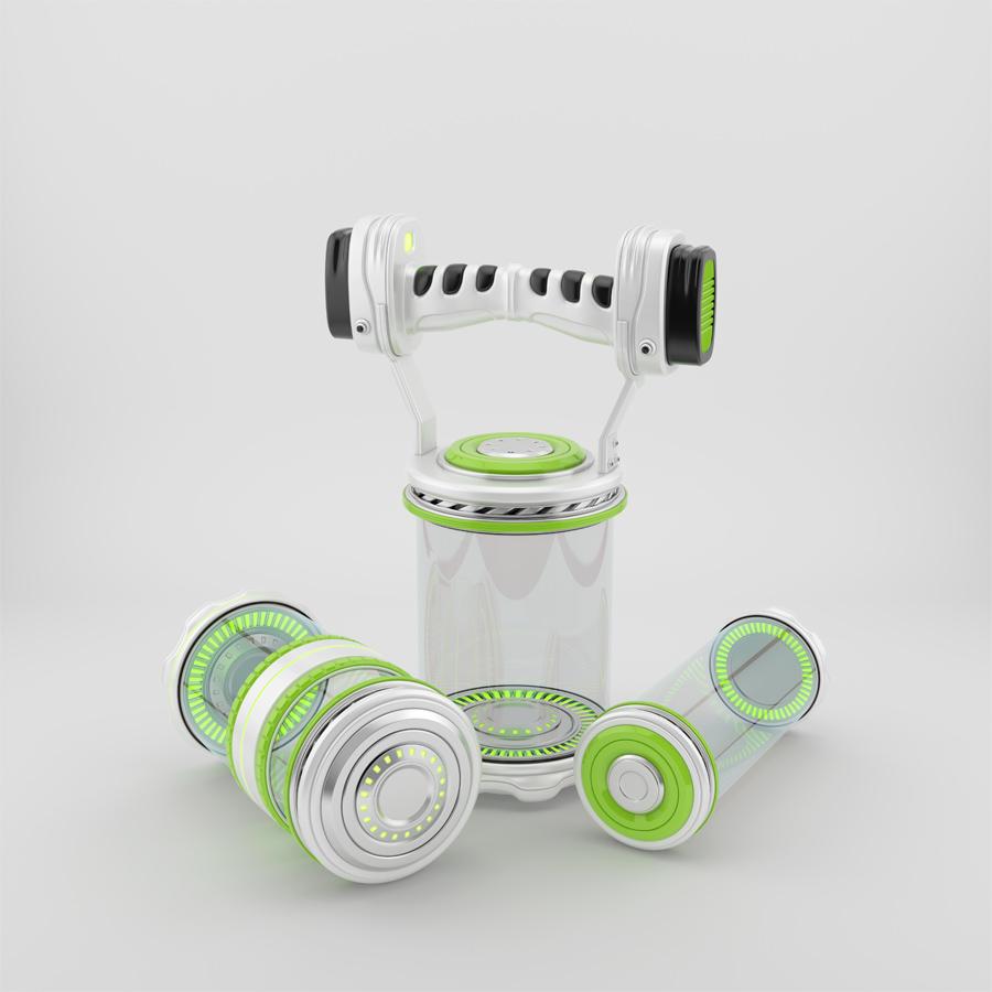 Futuristic transparent containers