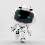 White mini unit 9 in action 3d render