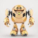 Golden robotic turtle