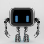 Extraordinary TV bot with antennaes