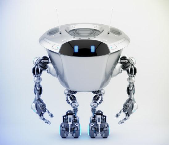 Massive robotic character - kilo bot, 3d render