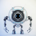 De-bot robotic creature, 3d illustration
