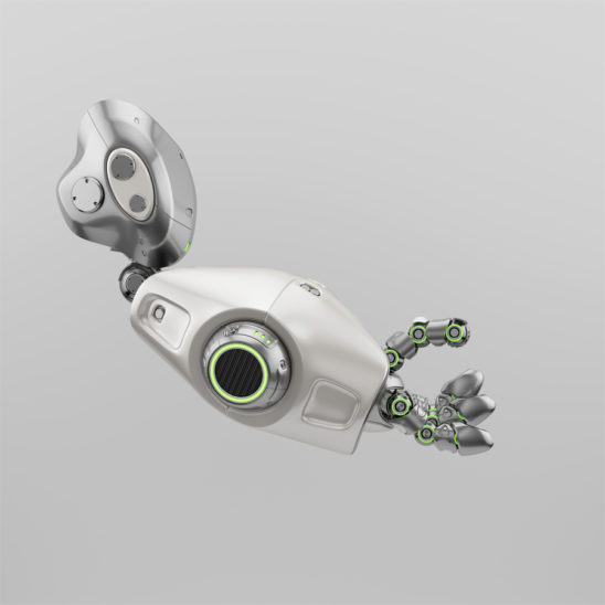 Cute metal robotic arm