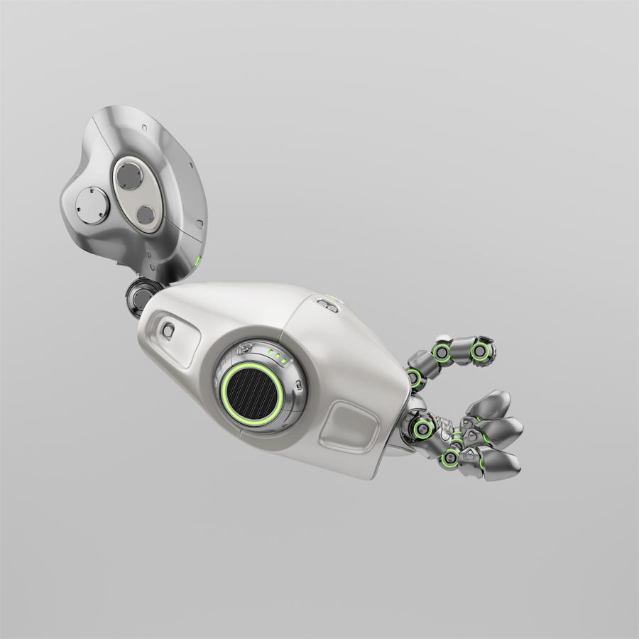 Cute metal robotic arm