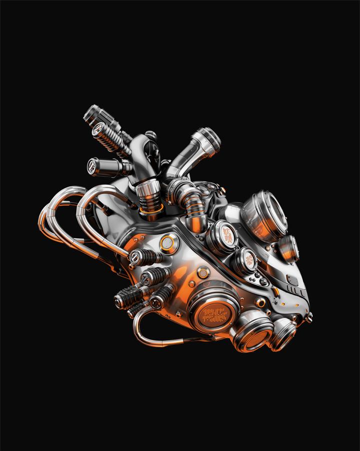 2777 robotic heart thumb