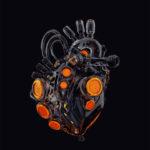 Glossy black heart II