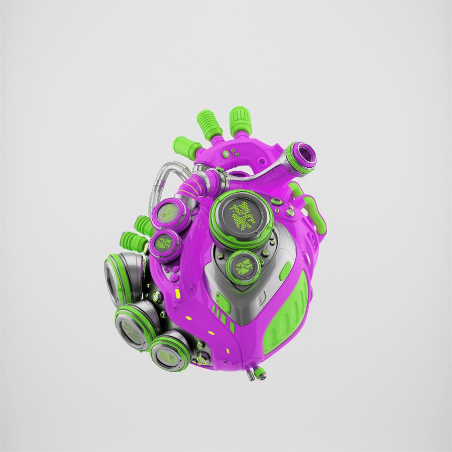 Crazy robotic heart II