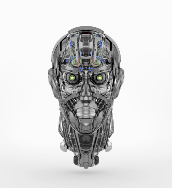 Steel robotic head