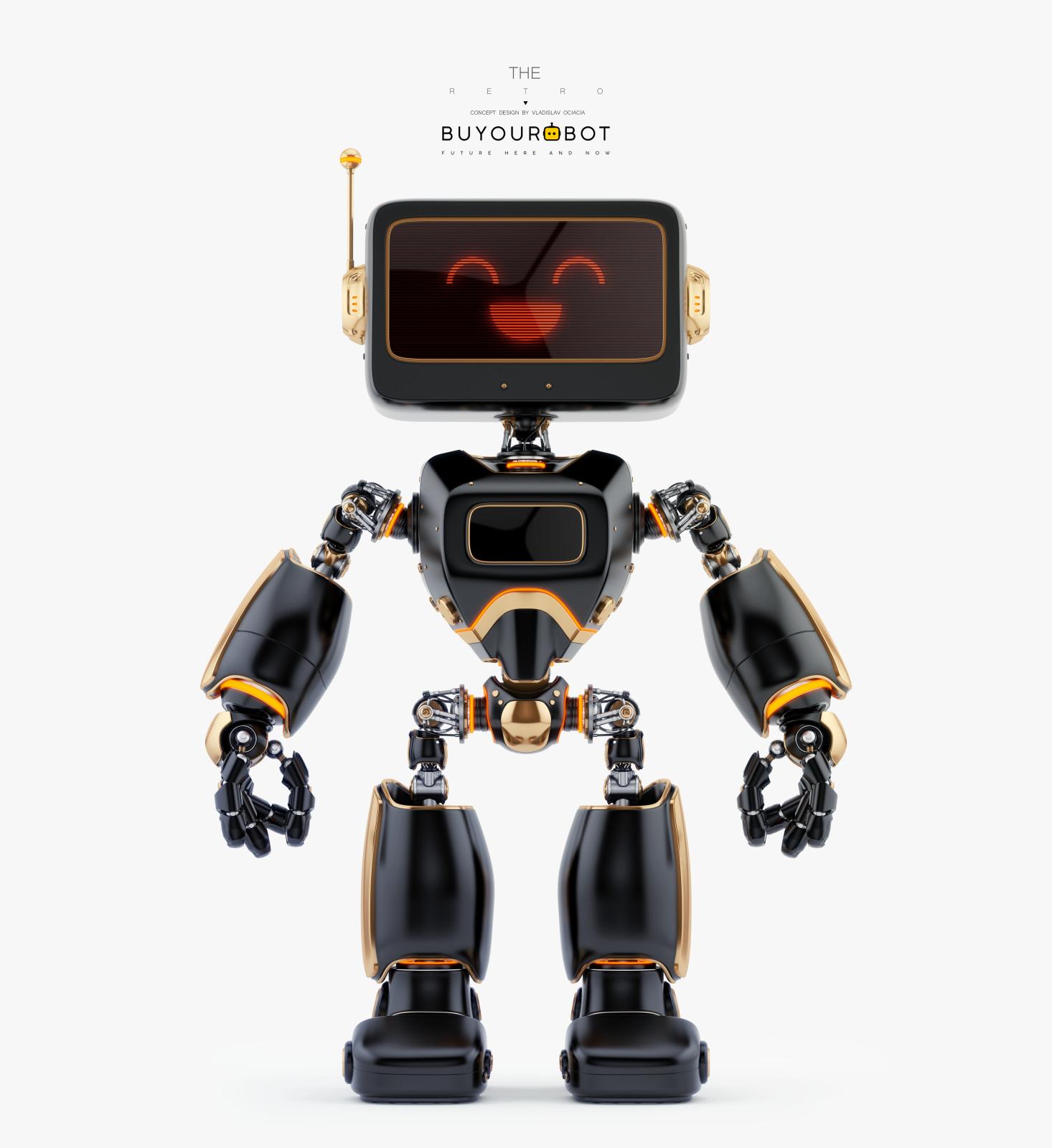 digital retro robot II 1