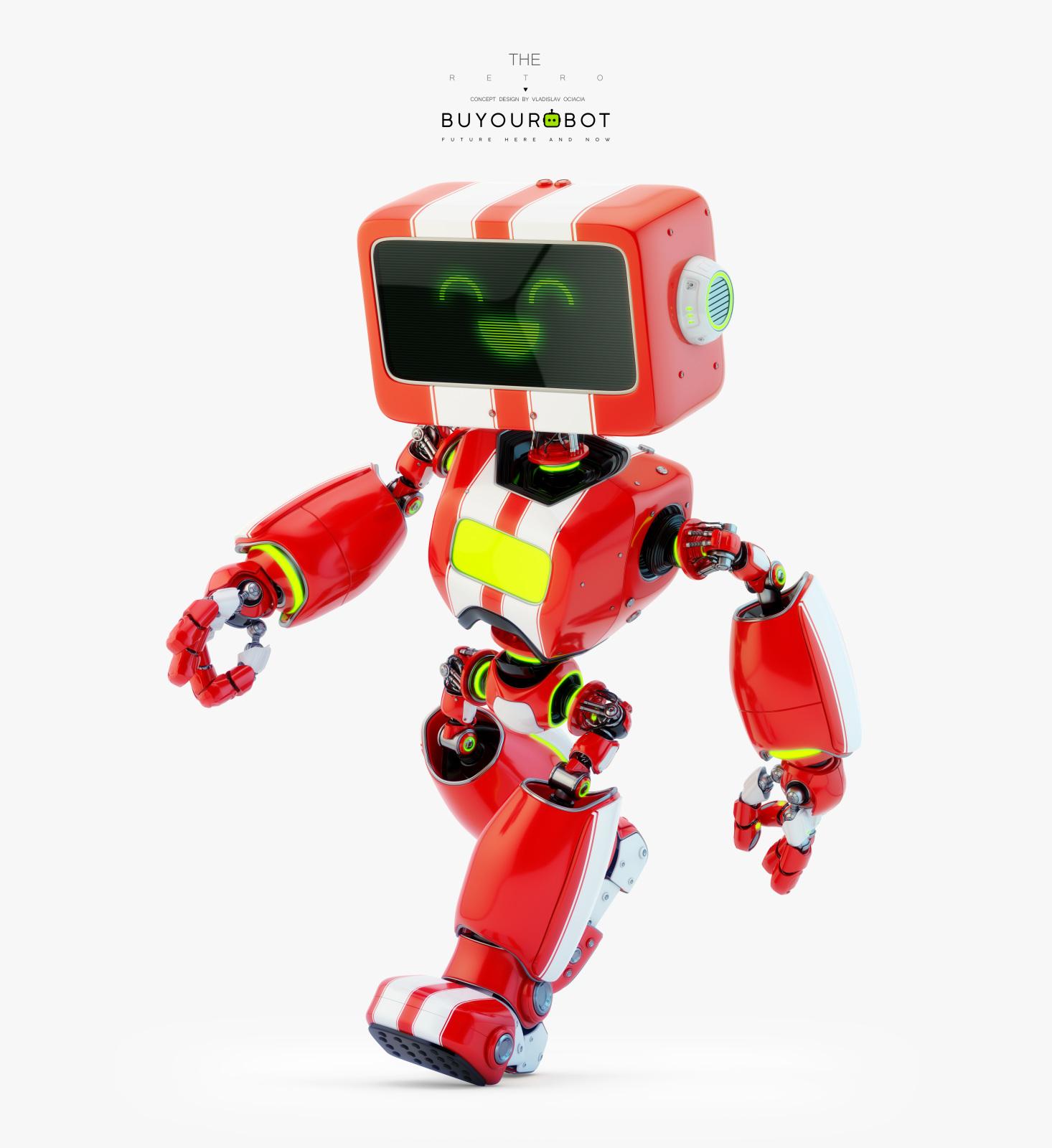 retro robot 3