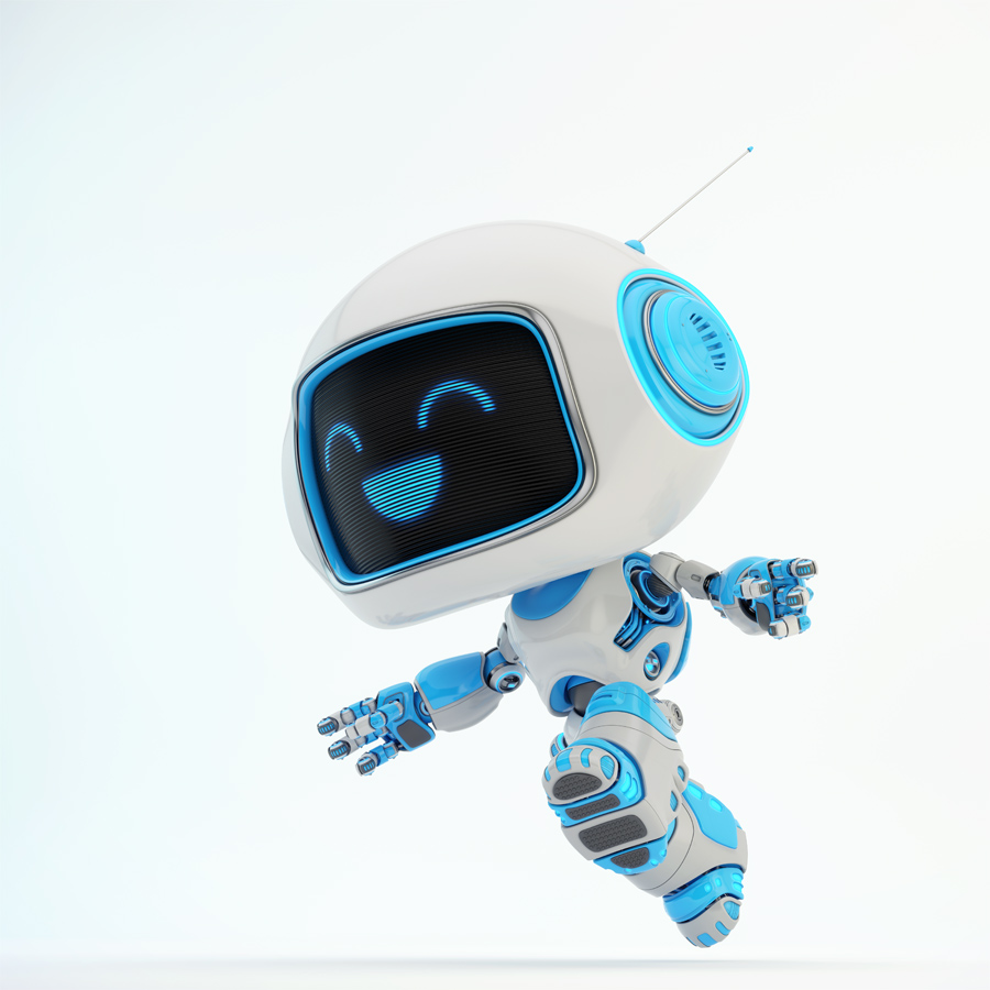 Jumping happy CUTAN robot