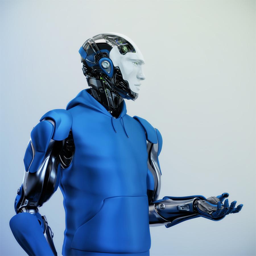 Mannequin fashion robot gesturing
