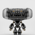 Steel black Cheburashka robot toy