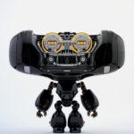 Glossy black Cheburashka robot toy