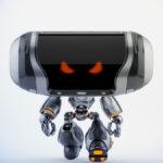 Walking angry Cheburashka robot