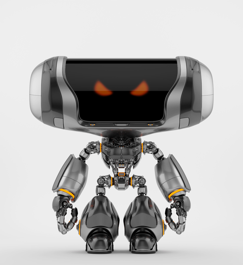 Angry Cheburashka robot