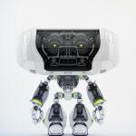 White Cheburashka robot toy