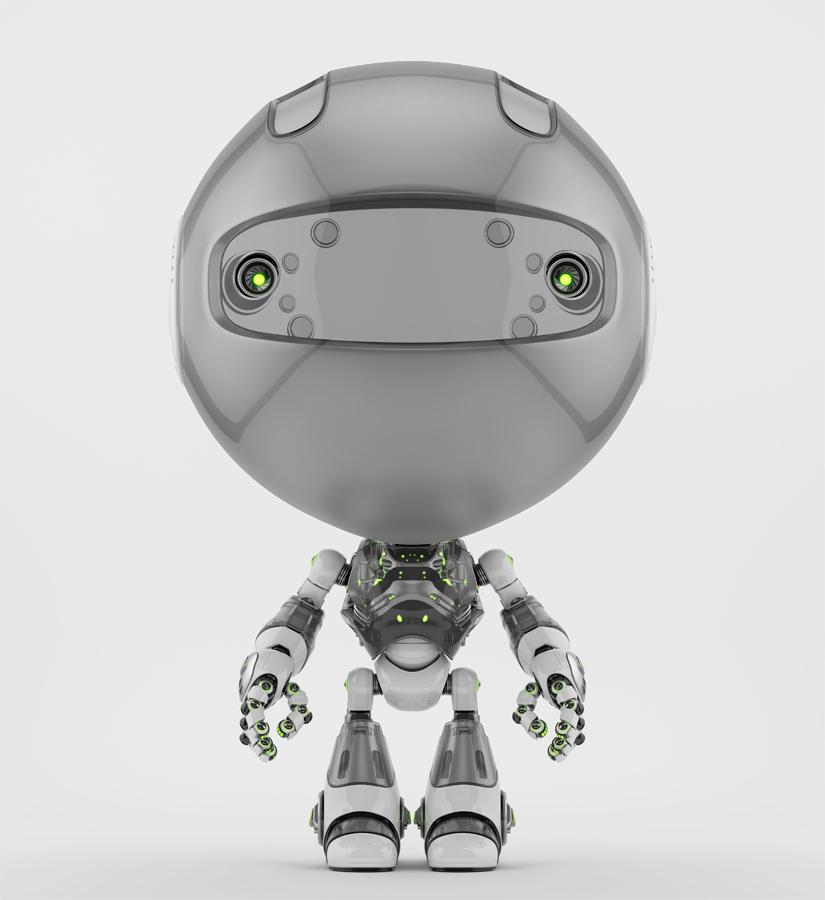 Grey toddler robot toy