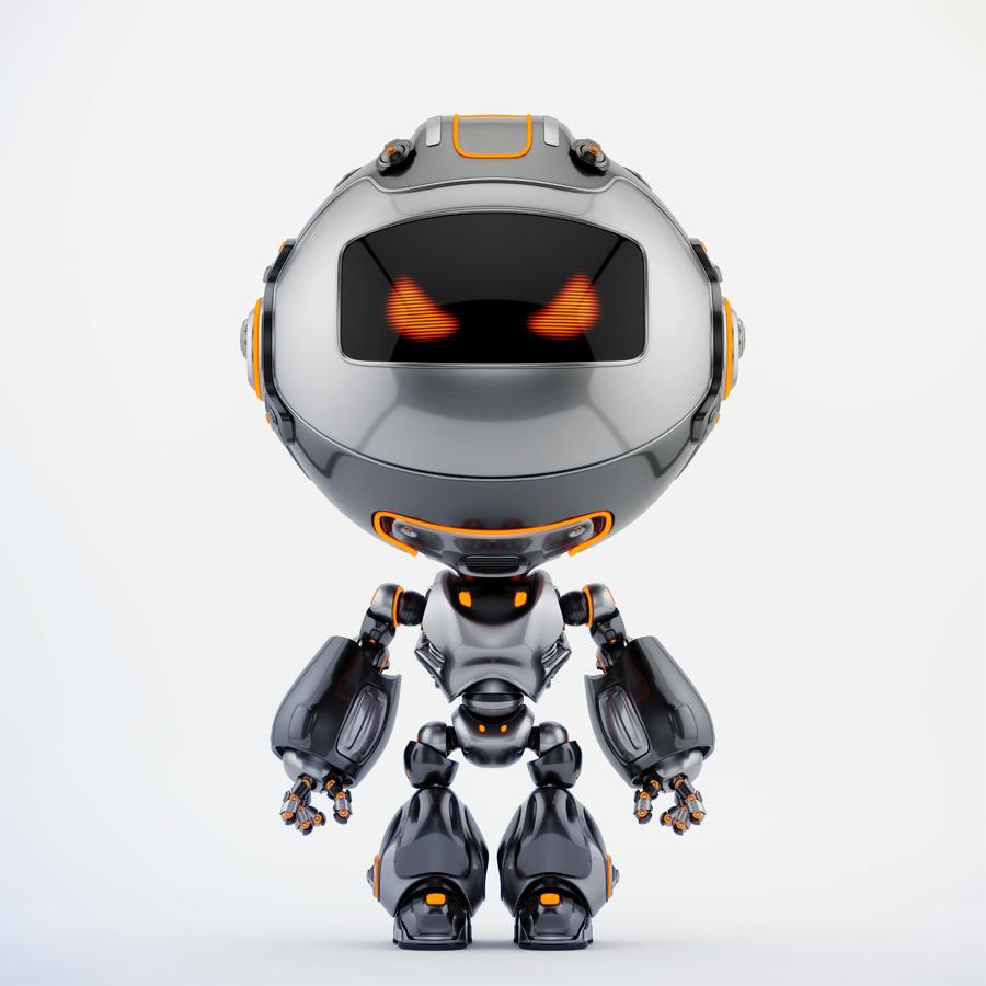 Black angry Robert bot