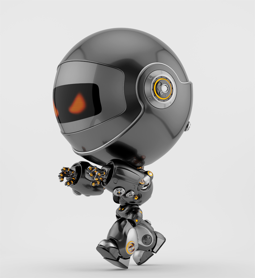 Angry black Robert bot sleepwalker