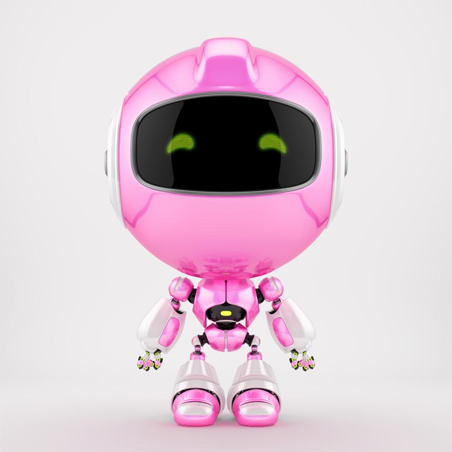 Robert bot in pink