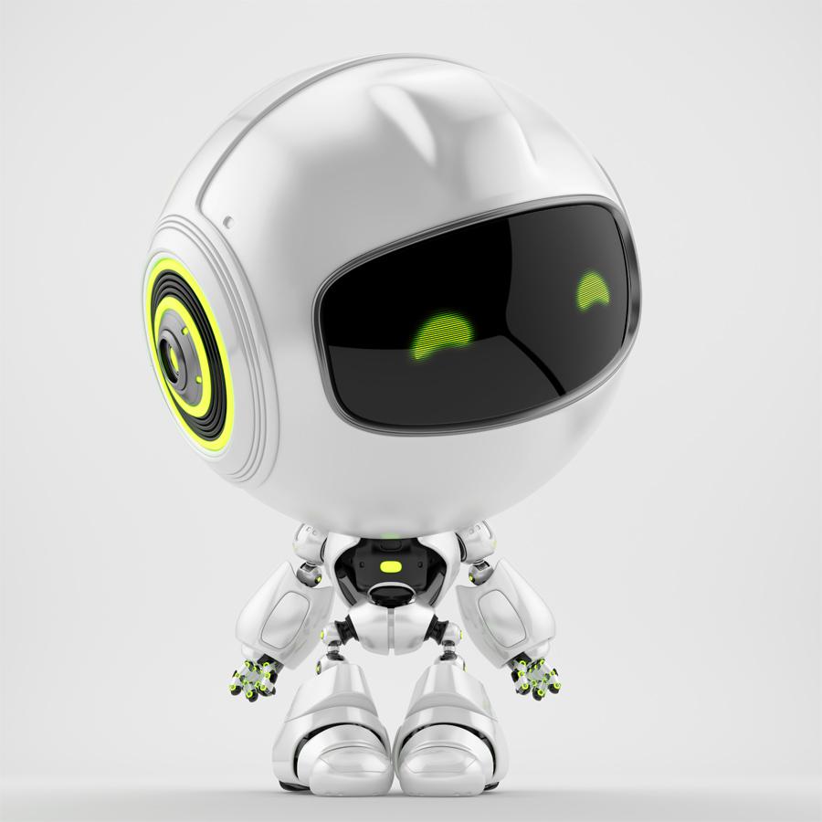 Pearl PR robot looking on side