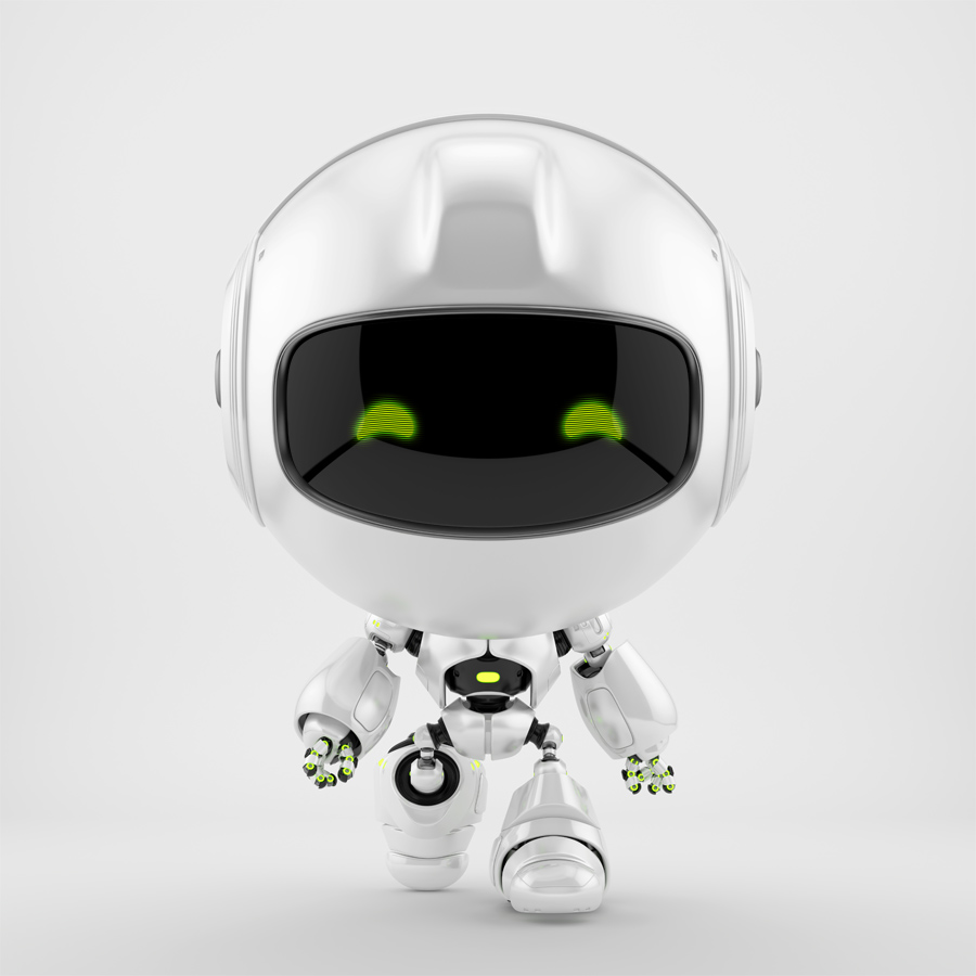Pearl PR robot in front