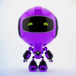 Violet PR robot in front